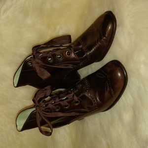 Charles Jourdan granny boots.